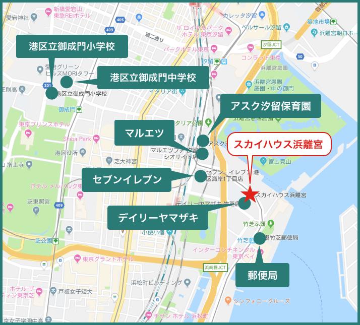 スカイハウス浜離宮の地図