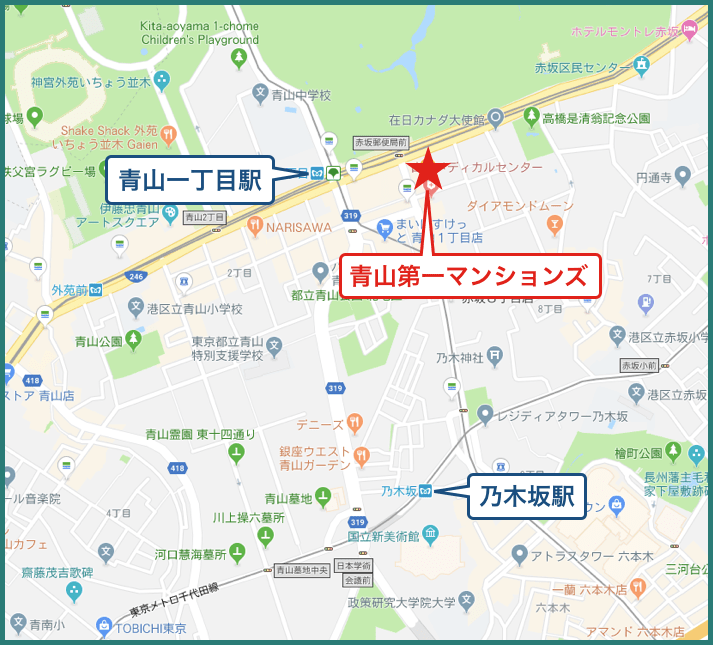 青山第一マンションズの地図