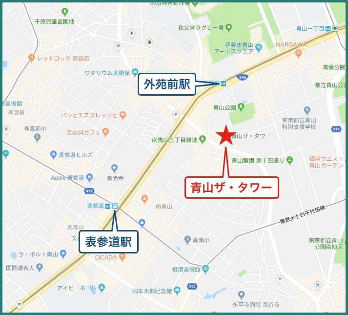 青山ザ・タワーの地図