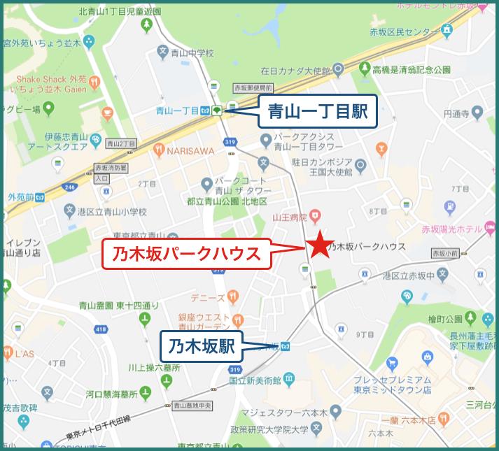 乃木坂パークハウスの地図