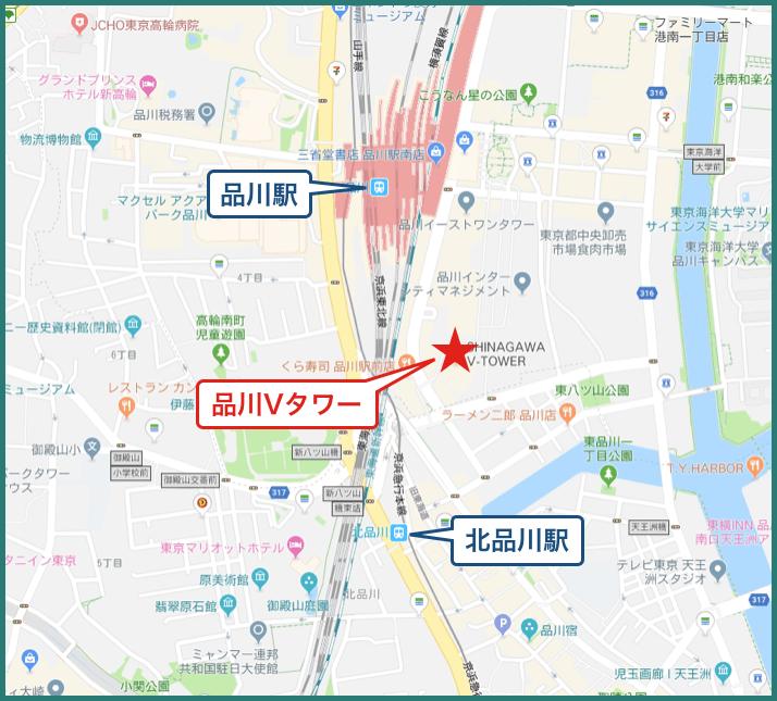 品川Vタワーの地図