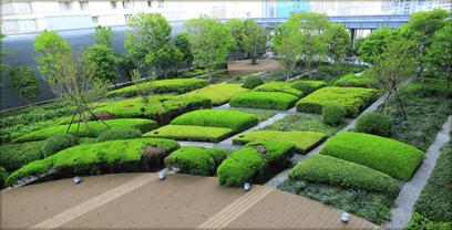 東京ミッドタウン・レジデンシィズの屋上庭園