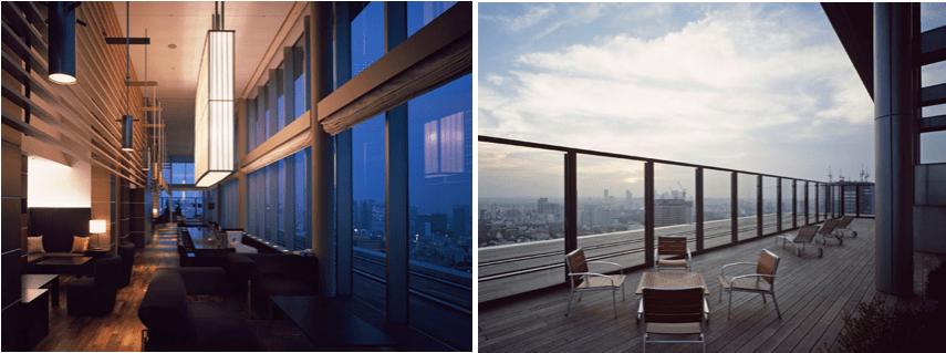 赤坂タワーレジデンスTop of the Hillのラウンジ
