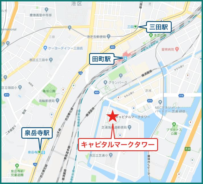 キャピタルマークタワーの地図