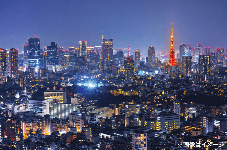 夜景 東京タワー 遠