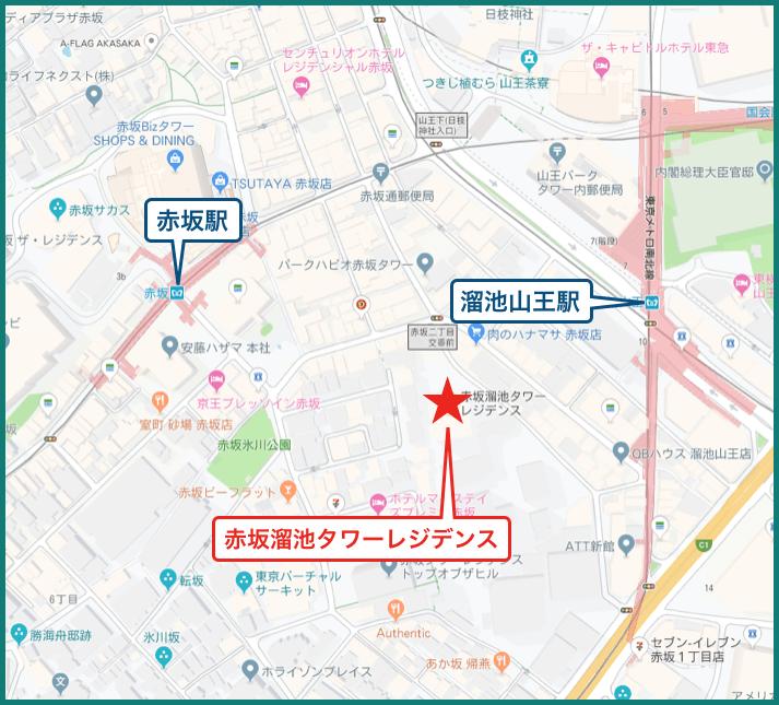 赤坂溜池タワーレジデンスの地図