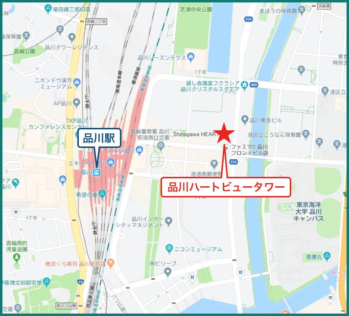 品川ハートビュータワーの地図
