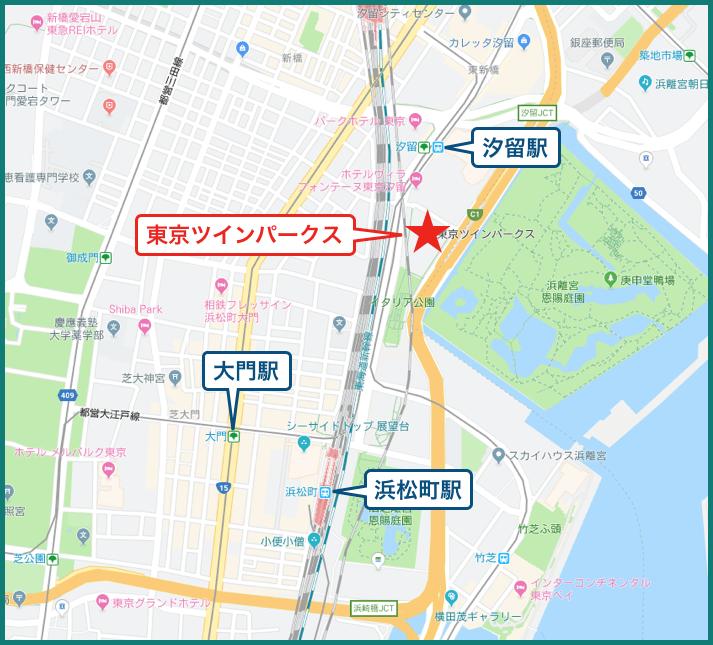 東京ツインパークの地図