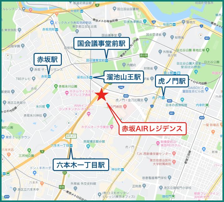 赤坂AIRレジデンスの地図