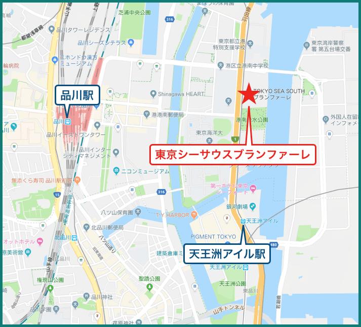 東京シーサウスブランファーレの地図