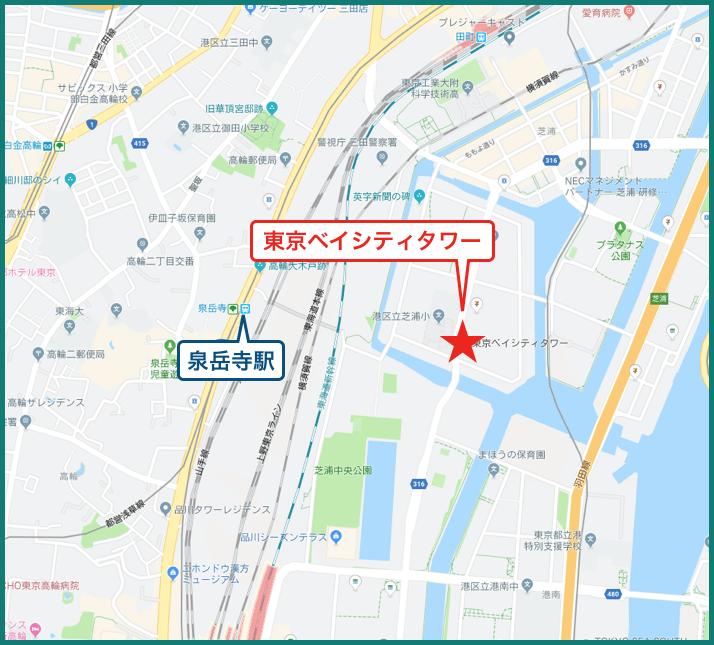 東京ベイシティタワーの地図