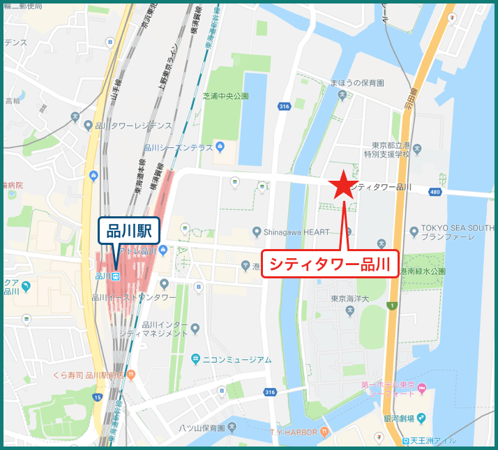 シティタワー品川の地図