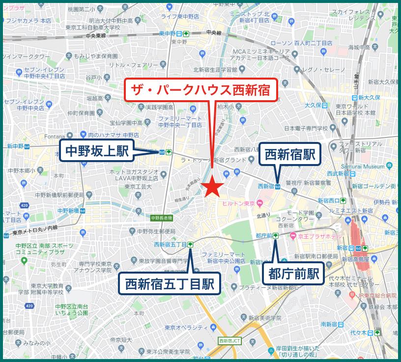 ザ・パークハウス西新宿タワー60の地図