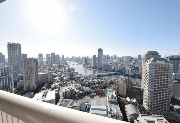 リバーシティ21イーストタワーズ10棟の眺望