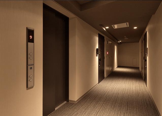 アーバネックス三田の内廊下
