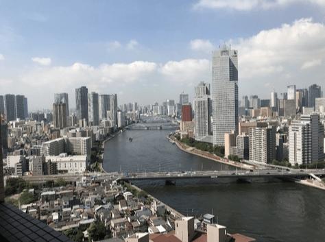 リバーシティ21シティフロントタワーの眺望