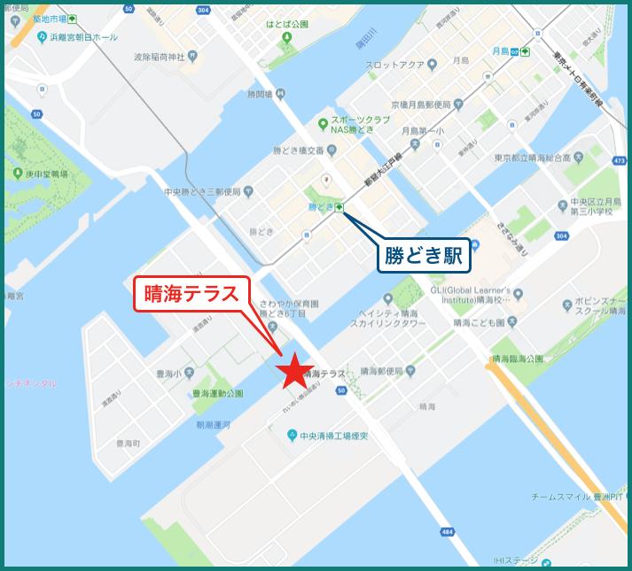 晴海テラスの地図
