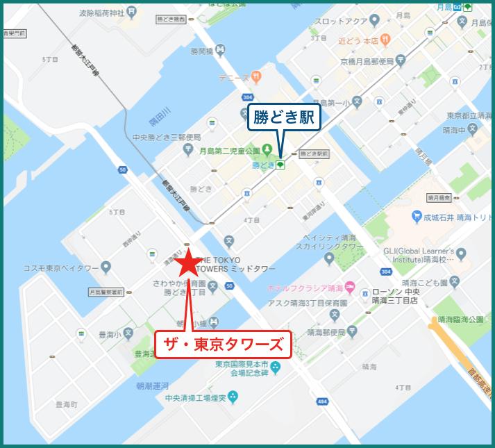 ザ・東京タワーズの地図