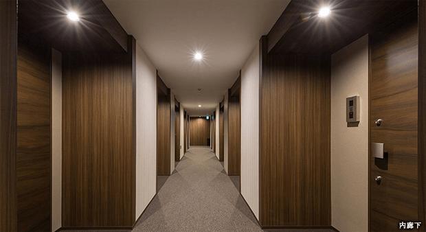 クレヴィアリグゼの内廊下イメージ