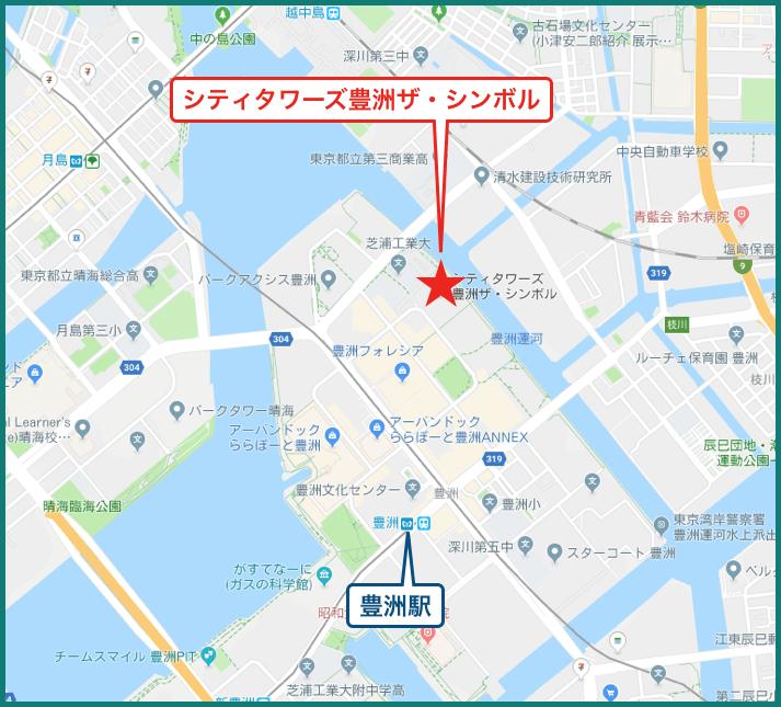 シティタワーズ豊洲ザ・シンボルの地図