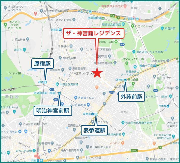 ザ・神宮前レジデンスの地図