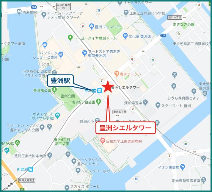 豊洲シエルタワーの地図