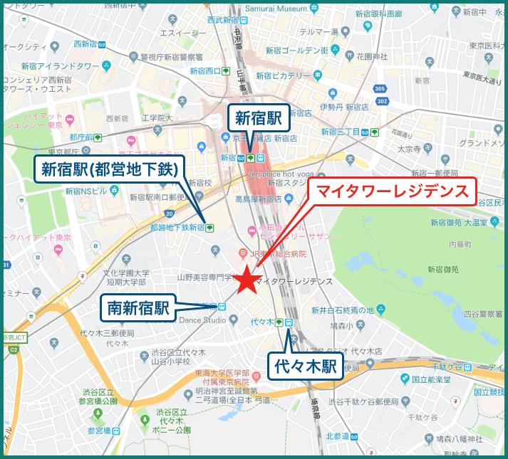 マイタワーレジデンスの地図