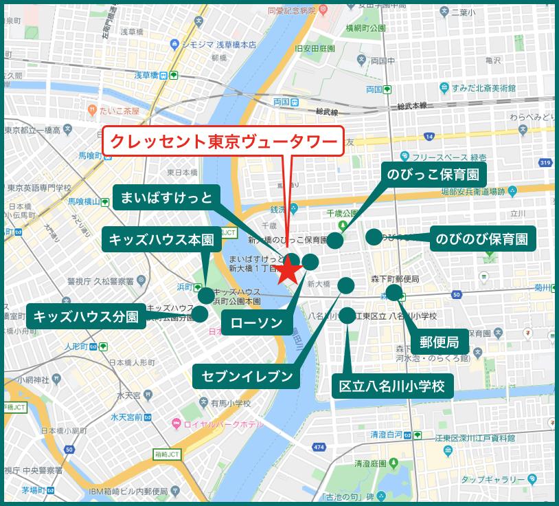 クレッセント東京ヴュータワーの周辺施設