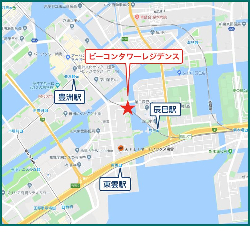 ビーコンタワーレジデンスの地図