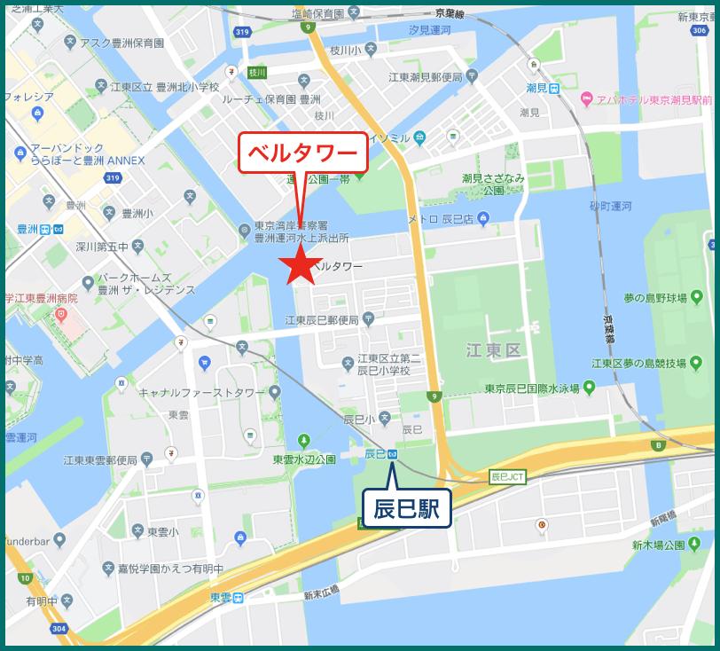 ベルタワーの地図