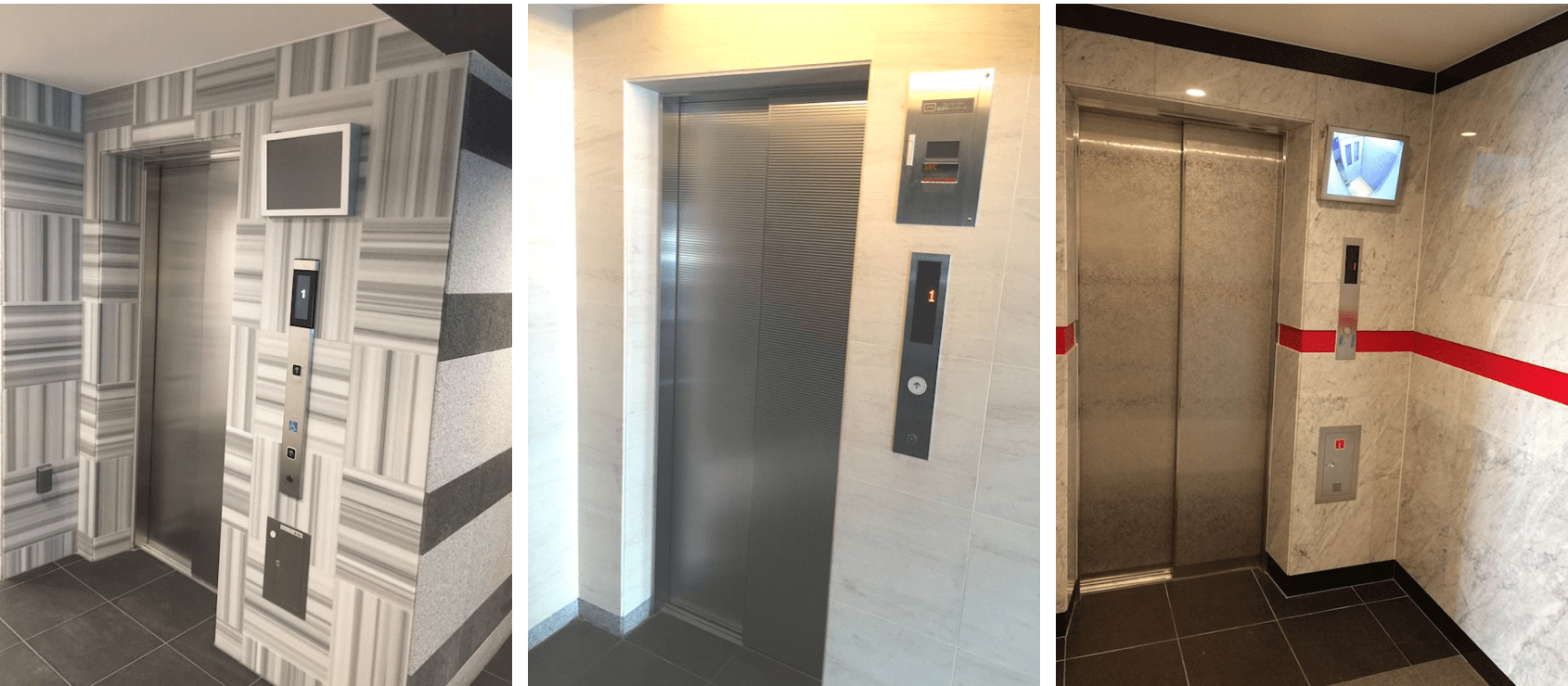 メインステージのエレベーターホール
