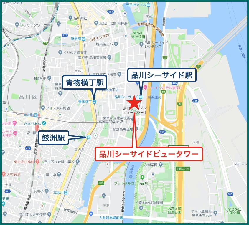 品川シーサイドビュータワーの地図