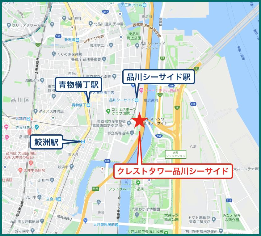 クレストタワー品川シーサイドの地図