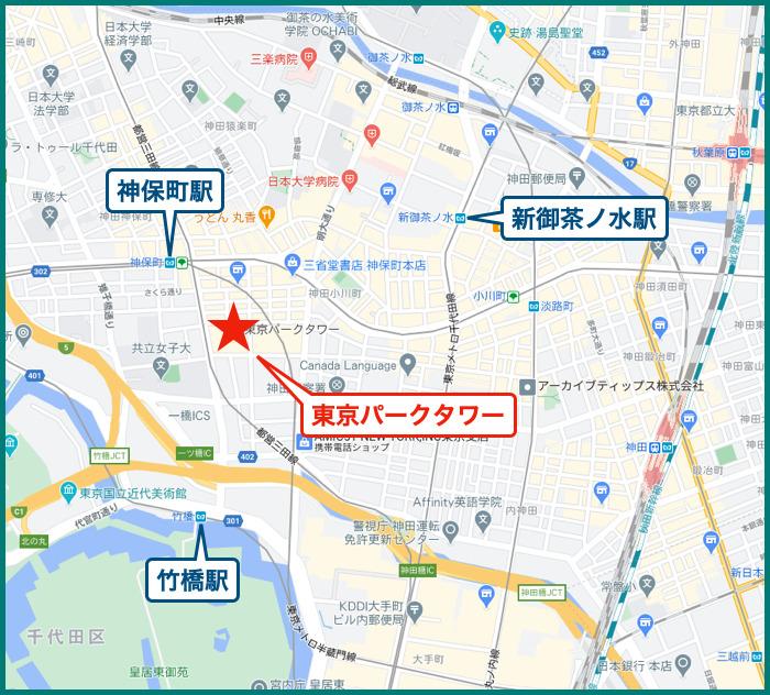 東京パークタワーの地図