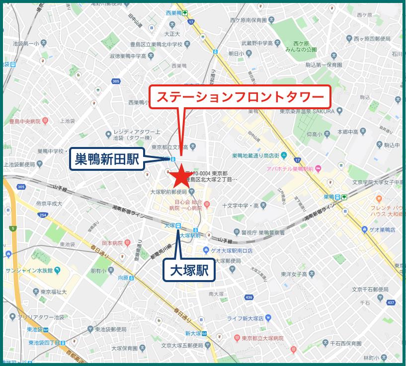 ステーションフロントタワーの地図