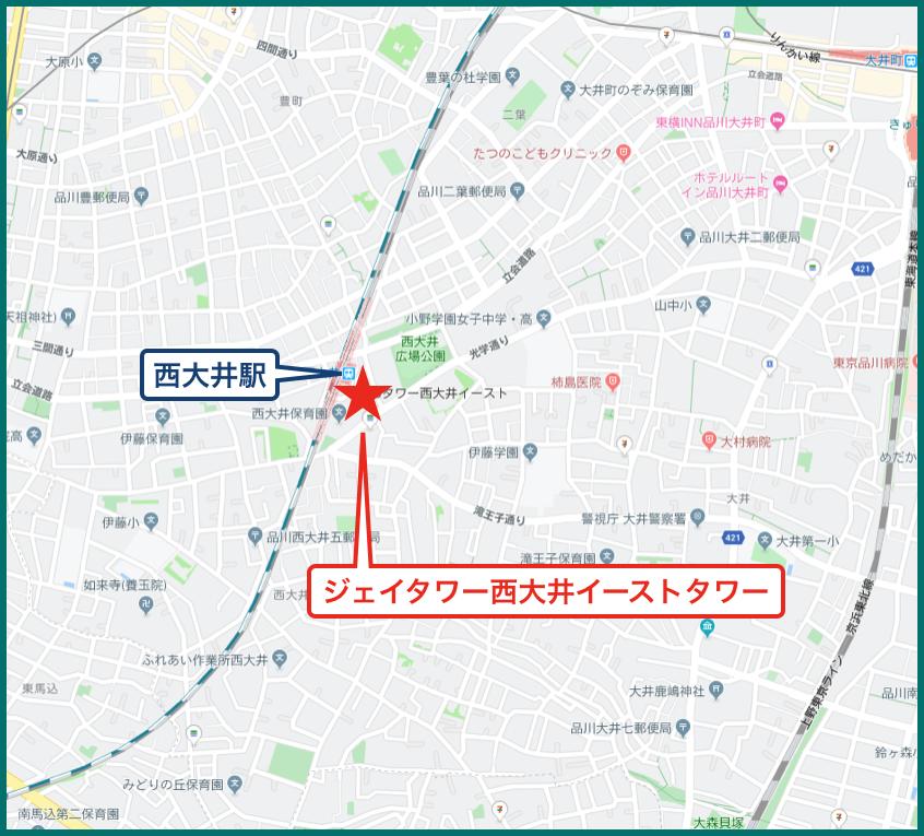 ジェイタワー西大井イーストタワーの地図