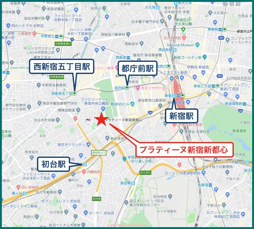 プラティーヌ新宿新都心の地図