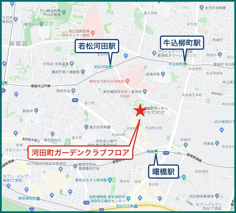 河田町ガーデンクラブフロアの地図