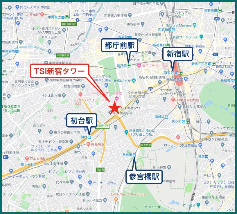 TSI新宿タワーの地図