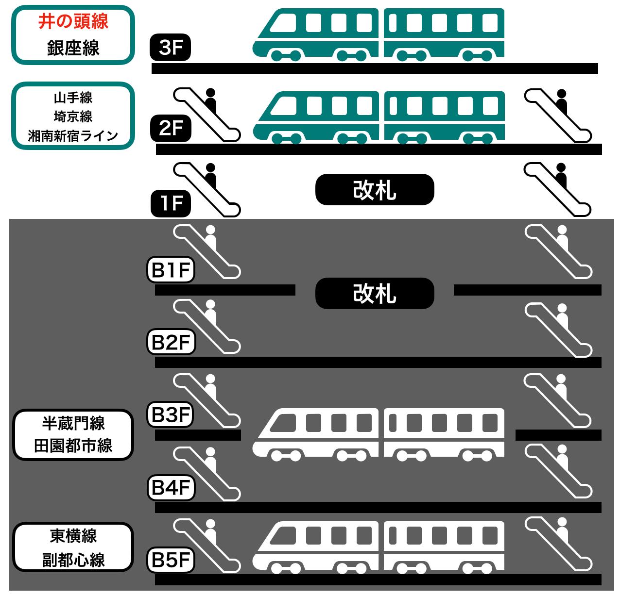 渋谷駅の構内イメーシ