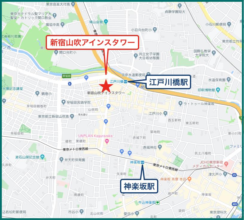 新宿山吹アインスタワーの地図