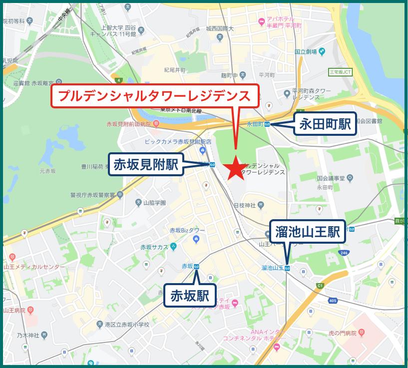 プルデンシャルタワーレジデンスの地図