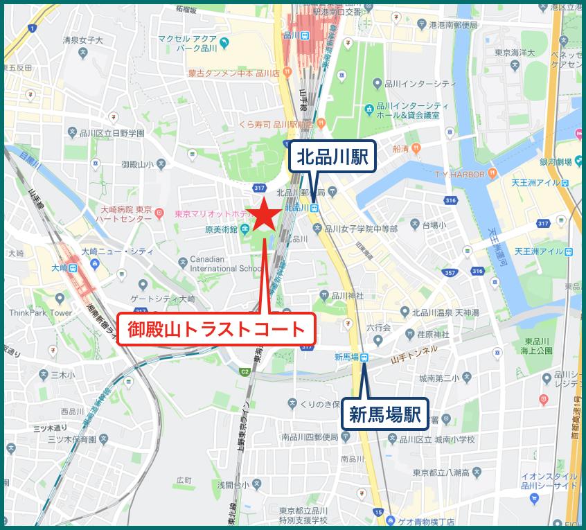 御殿山トラストコートの地図