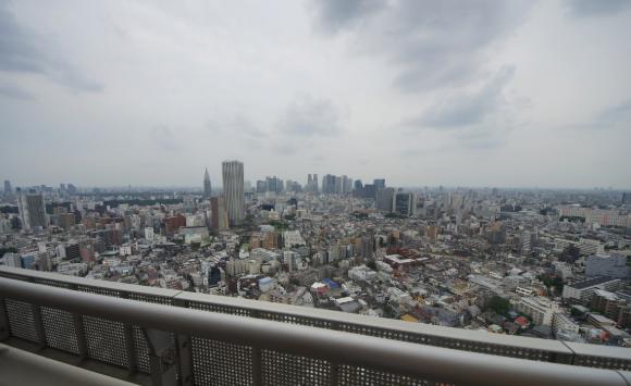 河田町ガーデンクラブフロアの眺望