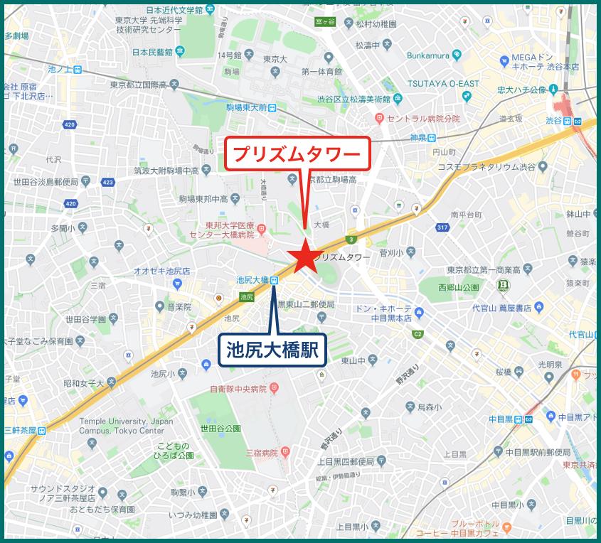 プリズムタワーの地図
