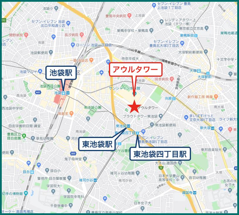 アウルタワーの地図