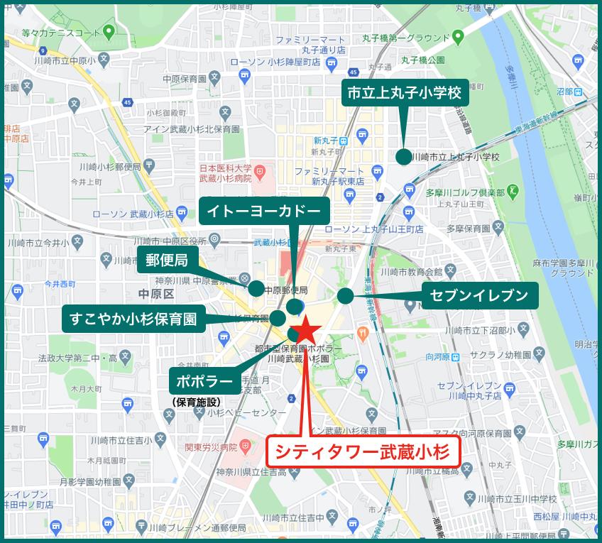 シティタワー武蔵小杉の周辺施設