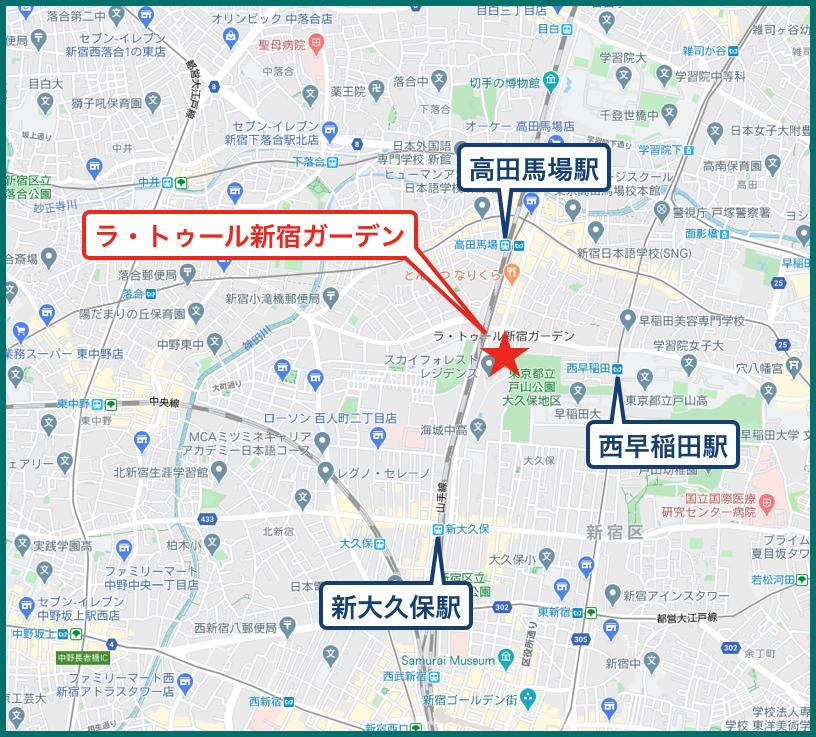 ラ・トゥール新宿ガーデンの地図