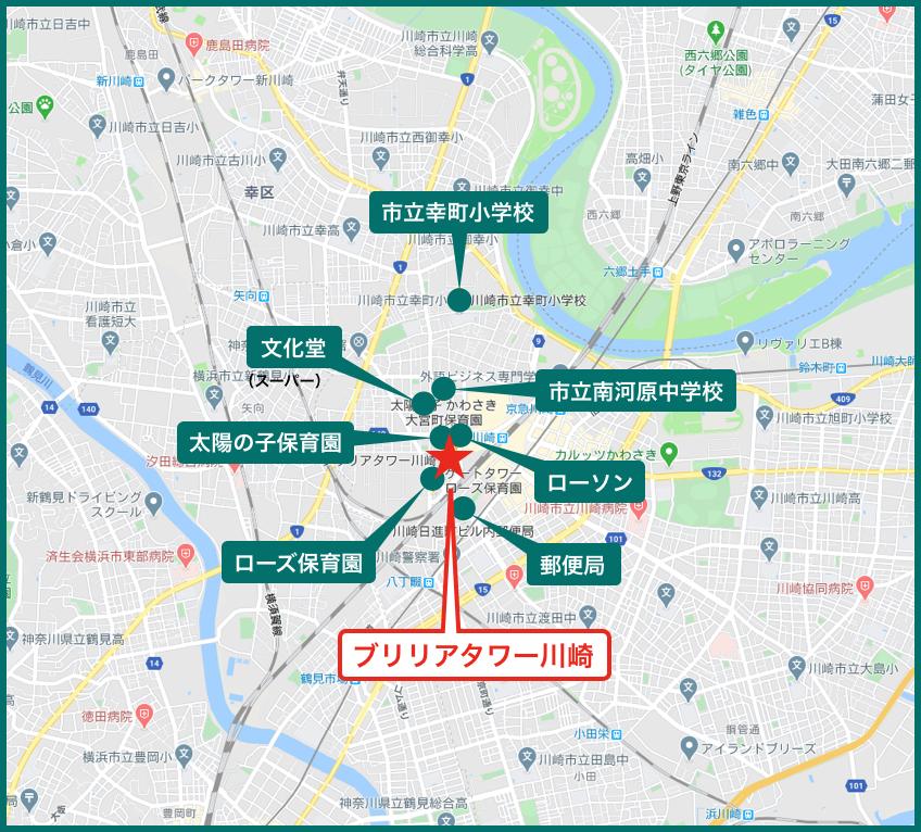 ブリリアタワー川崎の周辺施設