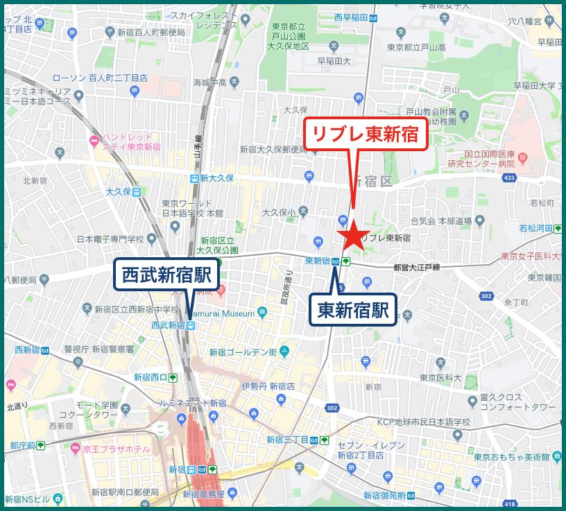 リブレ東新宿の地図